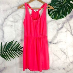 MADEWELL Hot Pink Mini Sleeveless Mini Dress Sz 0